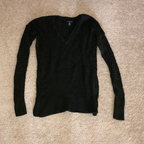 American Eagle Outfitters Sweaters Vneck Crochet Pattern Sweater